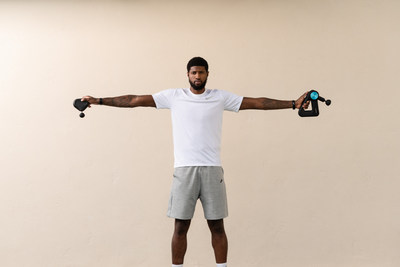 All-Star Paul George partners with Theragun ahead of official return to 2020 professional basketball season.