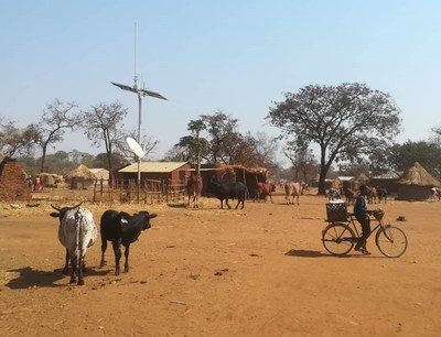 AMN 12m tower in Zambia (PRNewsfoto/Africa Mobile Networks (AMN))