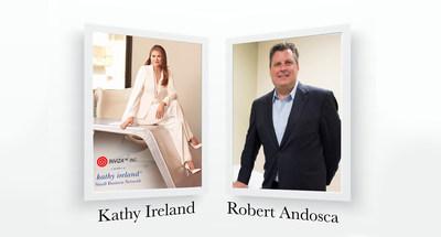 kathy ireland Worldwide®'s CEO, Kathy Ireland and INVIZA™'s CEO, Dr. Robert Andosca partner via kiSBN.