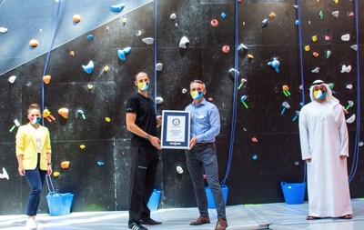"CLYMB™ Abu Dhabi Awarded ""World's Tallest Indoor Artificial Climbing Wall"" GUINNESS WORLD RECORDS™ title (PRNewsfoto/CLYMB™ Abu Dhabi)"