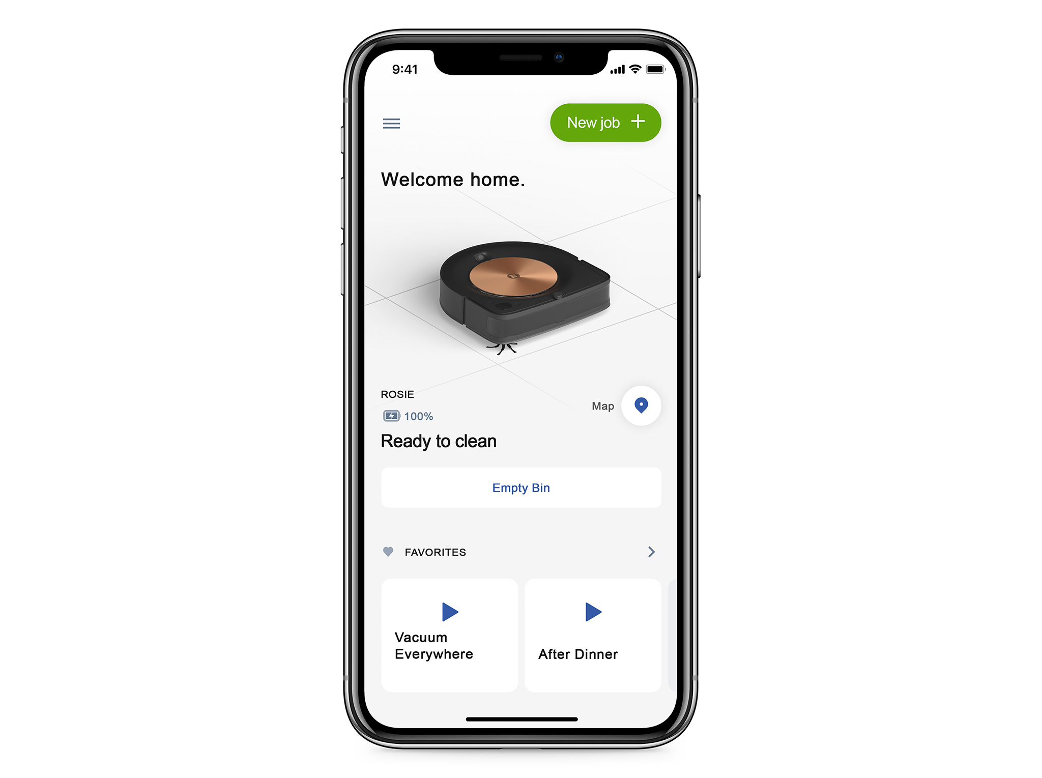 The new iRobot Home App, powered by iRobot Genius™, takes users beyond standard app control to give them a personalized home cleaning command and control center. The app, which works with all Wi-Fi connected iRobot products, supports cleaning based on a user's habits and personal preferences, enabling a smarter and more efficient customer experience.