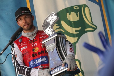 Brandon Palaniuk, of Rathdrum, Idaho, has won the 2020 Bassmaster Elite at Lake Champlain with a four-day total of 80 pounds, 1 ounce.