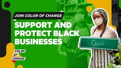 The Direct Agents creative team's digital billboard design for Color of Change