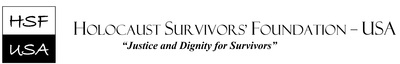 Visit the Holocaust Survivors Foundation USA website at www.hsf-usa.org (PRNewsfoto/Holocaust Survivors Foundation)