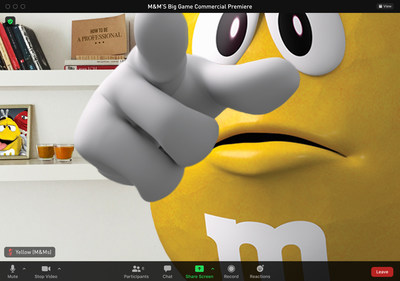 Mars Wrigley is inviting 50,000 Fans To A Virtual First Look At M&M'S Super Bowl Ad