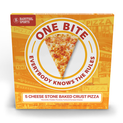 Barstool Sports One Bite 5 Cheese Stone Baked Crust Pizza