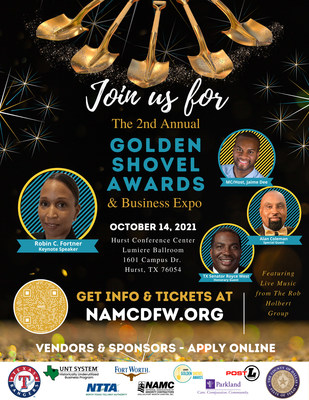 NAMC DFW's second annual Golden Shovel Awards Show in 2021 highlights major construction projects in the Dallas-Ft. Worth area by recognizing major corporate partners, owners and members of the construction industry who drive Diversity, Equity and Inclusion (DEI).