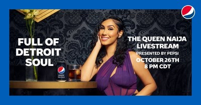 Pepsi today launched its Detroit music mentorship program, in support of local musicians, with content featuring Aretha Franklin's grandson Jonah and the opportunity to lift one winning artist to the national stage to perform alongside Queen Naija, all as part of its Full of Detroit Soul campaign.