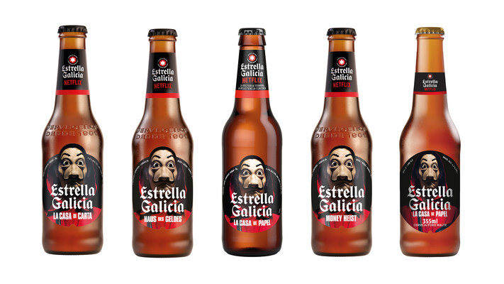 The brewery Estrella Galicia will dress its new special edition with labels that pay homage to La Casa de Papel (Money Heist)
